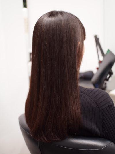 保湿した髪の毛