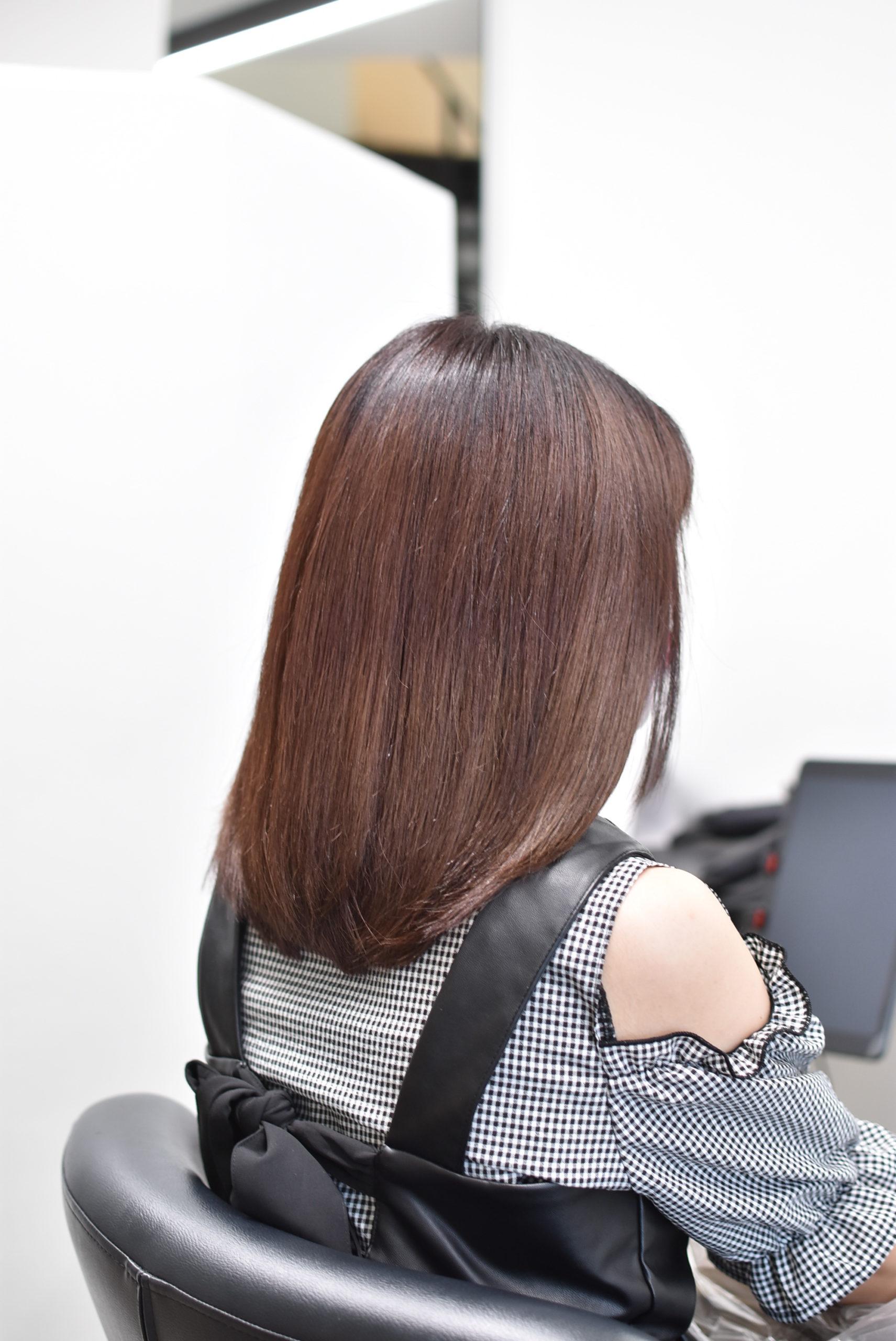 ツヤまとまりがでたヘアスタイル