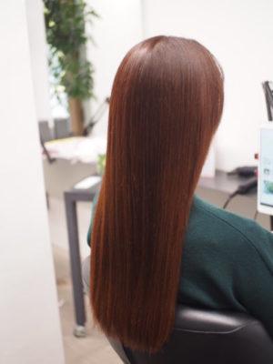 しっとりまとまり感のある髪質